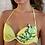 Thumbnail: Lemon Yellow 2 Pieces Printed Bikini Embroidery Koi Fish