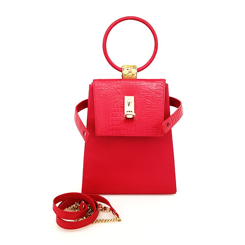 Red Leather New York Bag