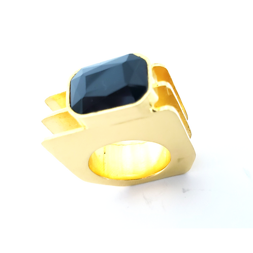 Onix 24k Gold Plated Ring