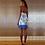 Thumbnail: Cotton Purple Pleated Short Dress