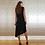 Thumbnail: Asymmetric Black Sleeveless Dress