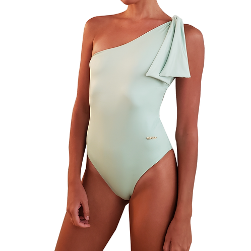 Neo Mint Classy One Shoulder Bathing Suit