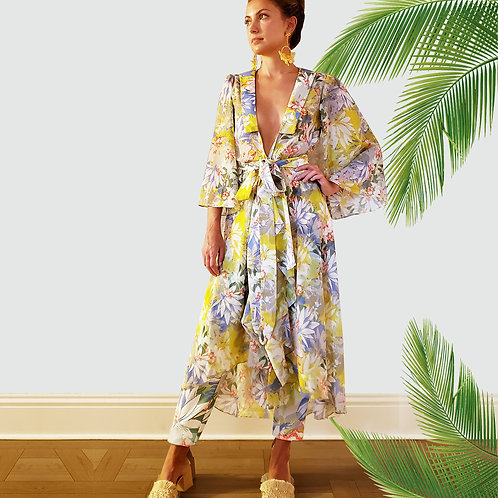 Koi Flower Kimono