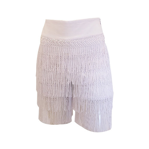 Mambo Cotton Shorts with Fringes