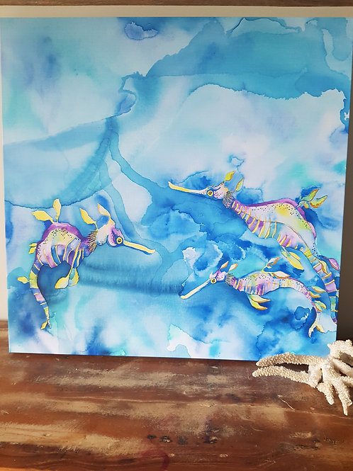 Custom Limited Edition Candy Sea Dragons Canvas Print