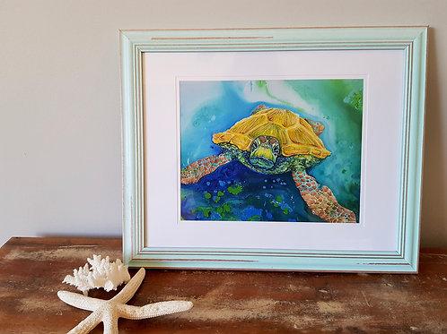 Emerald Beach Framed Print A4