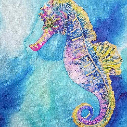 Violet Seahorse