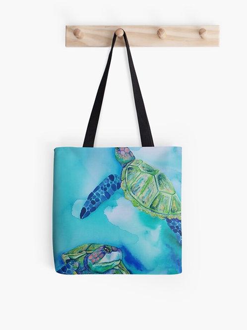 Jade Turtles Graphic Tote