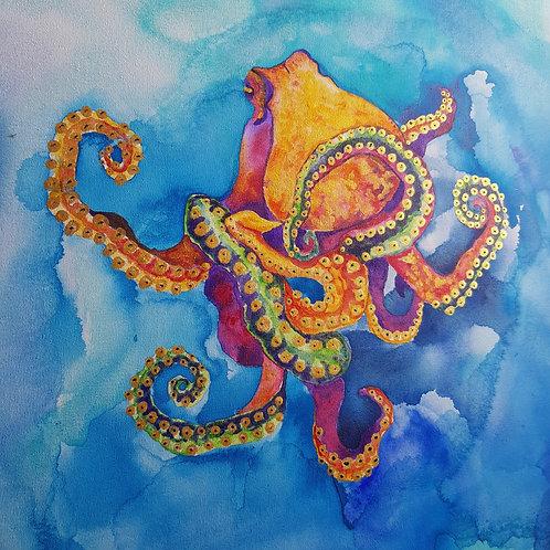 Sherbet Octopus Art Print