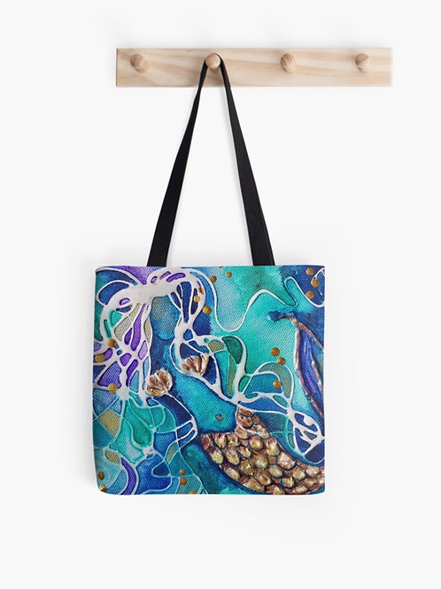 Salty Siren Graphic Tote
