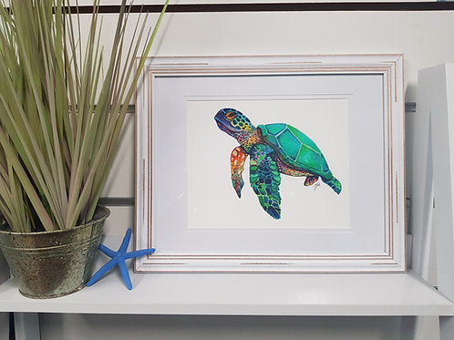Cactus Beach Rustic Framed Print