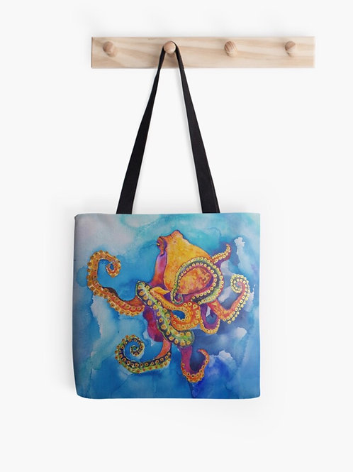 Sherbet Octopus Graphic Tote