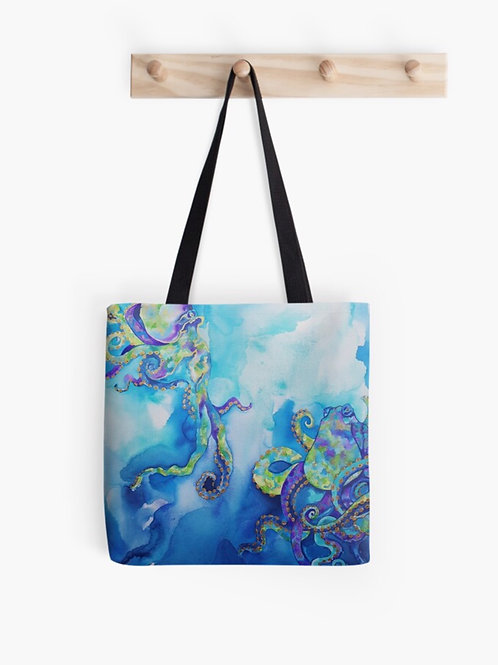 Tentacles In Teal Graphic Tote