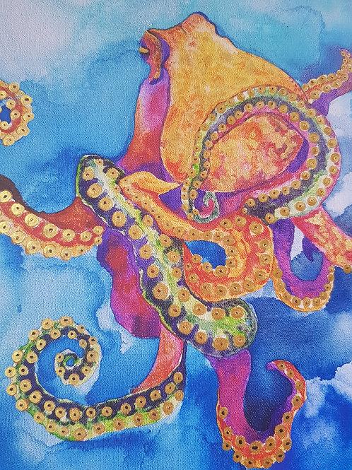 Custom Limited Edition Sherbet Octopus Canvas Print