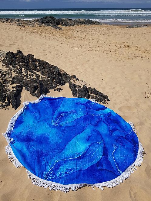 Pod Of Three Round Tassel Beach Towel
