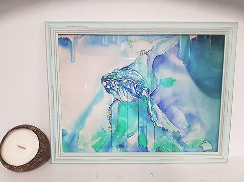 Through The Porthole Rustic Framed Print
