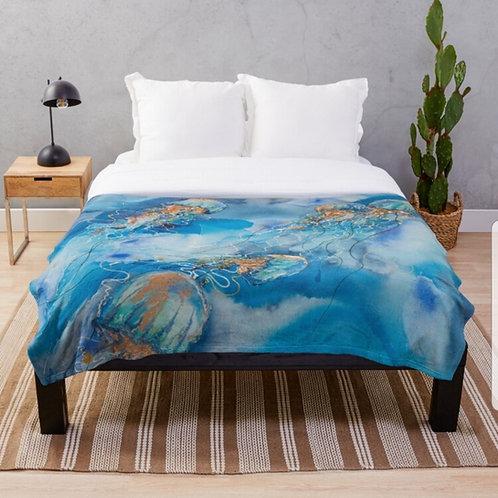 Ningaloo Throw Blanket