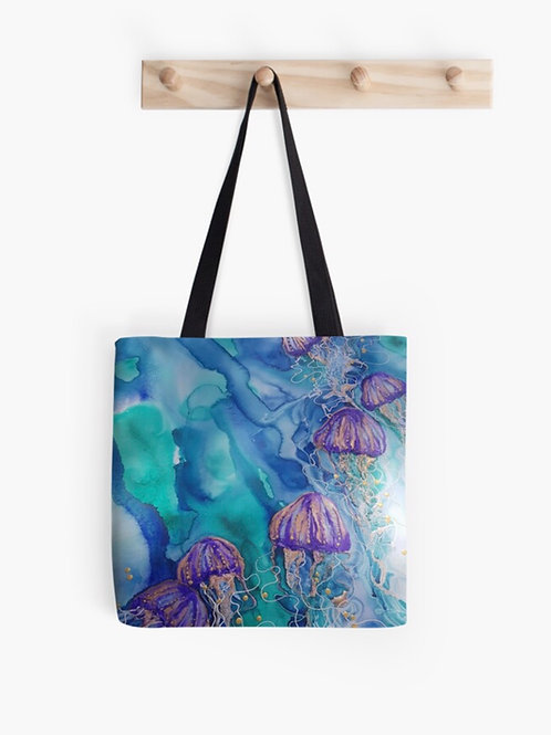 Lilac Bloom Cotton Graphic Tote