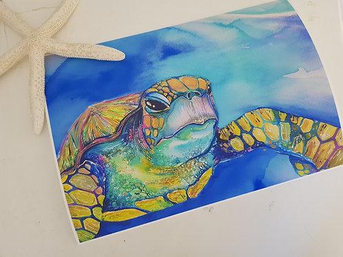Iridescent Turtle Art Print