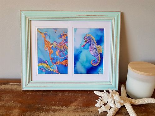 Tin Can Bay Double Framed Print