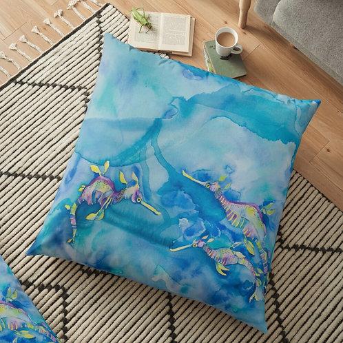 Candy Sea Dragons Throw Cushion