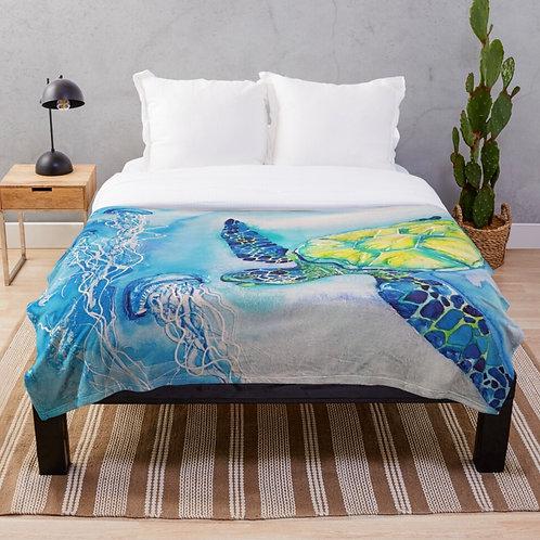 Rainbow Beach Throw Blanket
