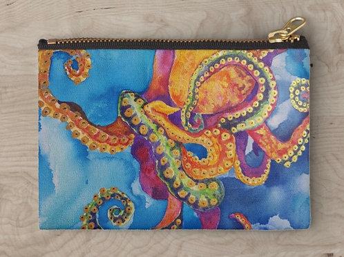 Sherbet Octopus Zipper Clutch