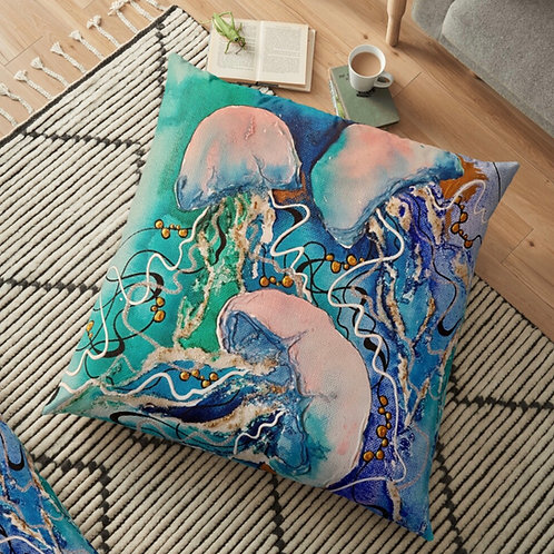 Ghost Jellyfish Throw Cushion