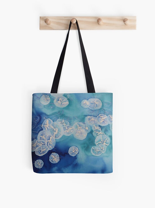 Moon Over Sea Graphic Tote