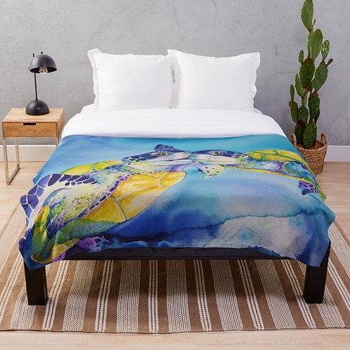 Sunrise Beach Throw Blanket