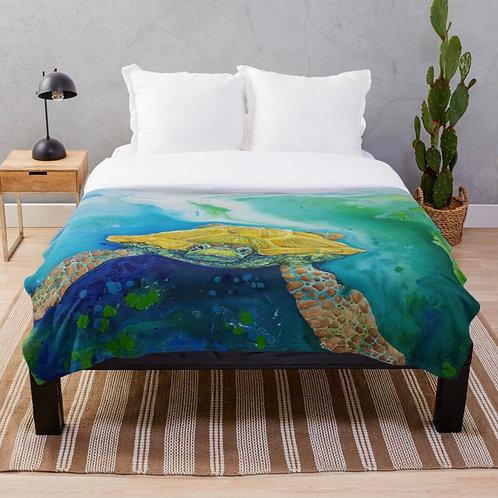 Emerald Beach Throw Blanket