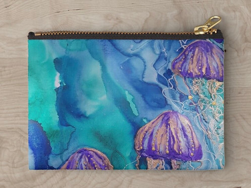 Lilac Bloom Zipper Clutch