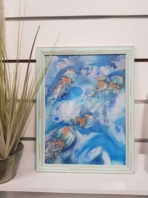 Ningaloo Rustic Framed Print