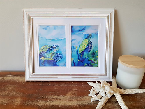 Turtle Cove Double Framed Print