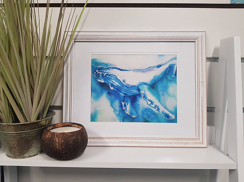 Sapphire Coast Rustic Framed Print