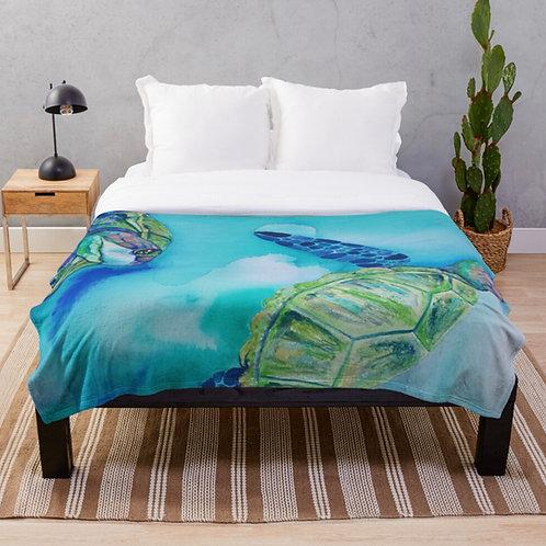 Jade Turtles Throw Blanket