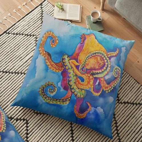 Sherbet Octopus Throw Cushion