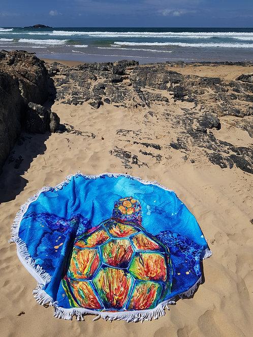 Caribbean Cruise Round Tassel Beach Towel