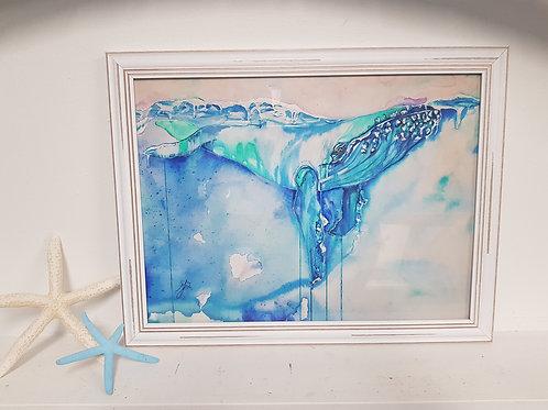 Big Blue Rustic Framed Print