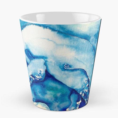 Inky Blue Whales Tall Mug