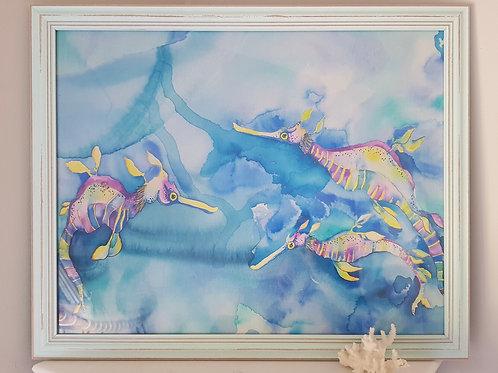 Candy Sea Dragons Framed Print