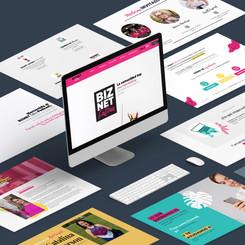 Web design for women's entrepreneurship community