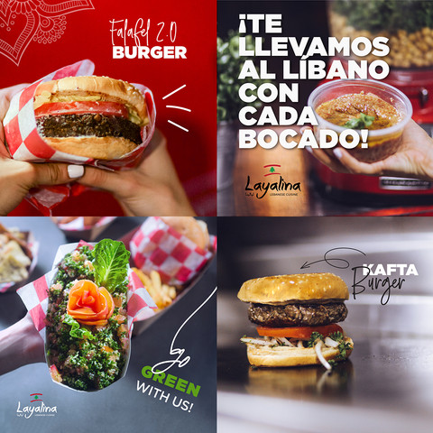 Photography and designs for lebanese foodtruck's social media