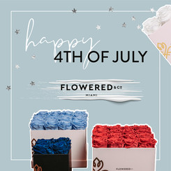 4th of July post for flower company