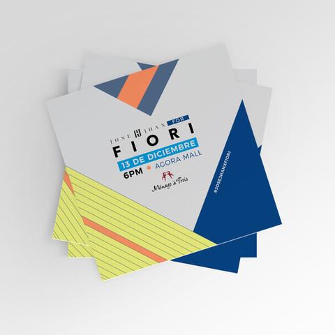 Invitation design for fashion designer line launch