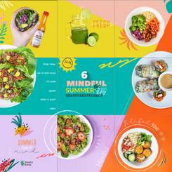 Puzzlefeed instagram design for Vegan Meal Service company.