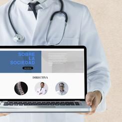 Web design for doctor's association