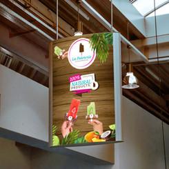 Artesanal Icecream popsicles billboard