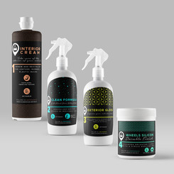 Package design for waterless cleaning car service formula