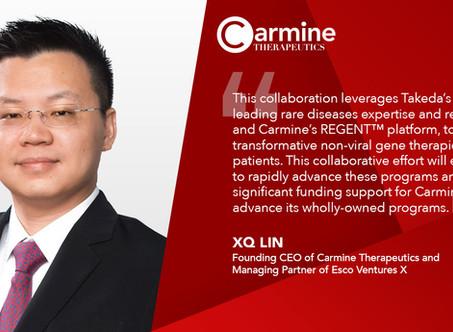 Carmine Therapeutics & Takeda Collaborate to Develop Novel Non-viral Gene Therapies